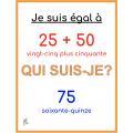 Jeu de calcul en français 51 - 100