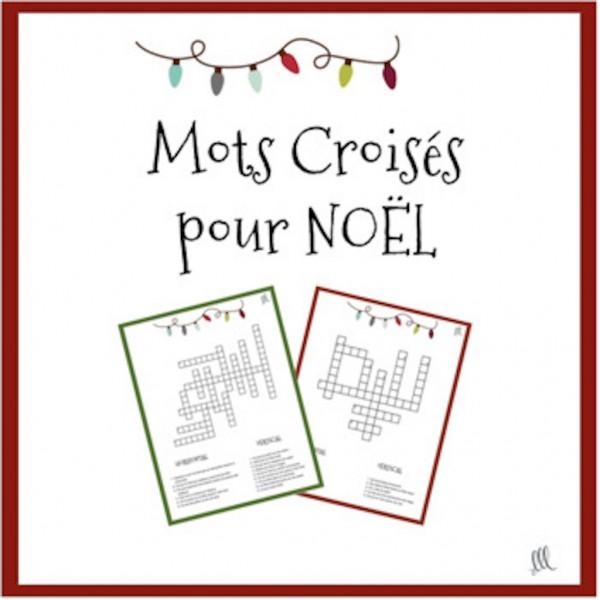 French Christmas Crosswords - Mots Croisés - Noël