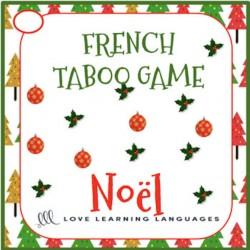 French Christmas Taboo Game - Noël