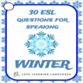 30 Winter speaking prompt cards in English