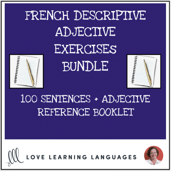 French adjectives exercises + resource booklet