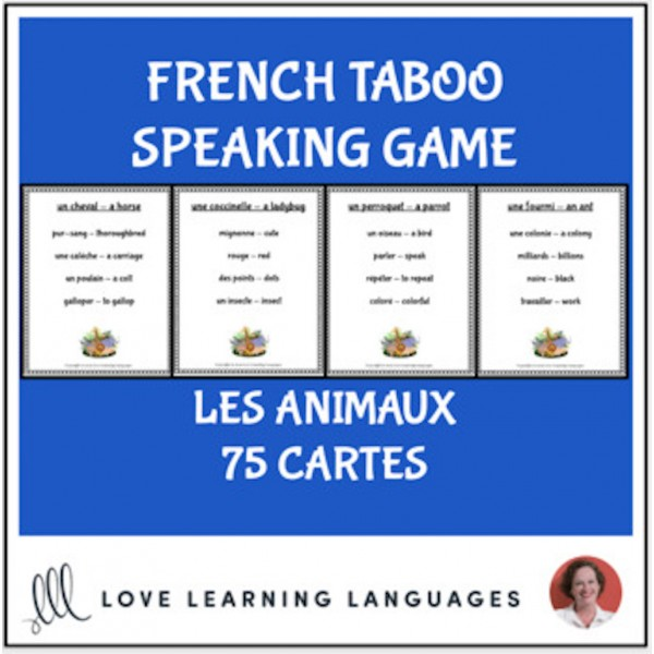 French Taboo Speaking Game - Animals - Les Animaux