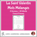 French Valentine's Day Scrambled Words