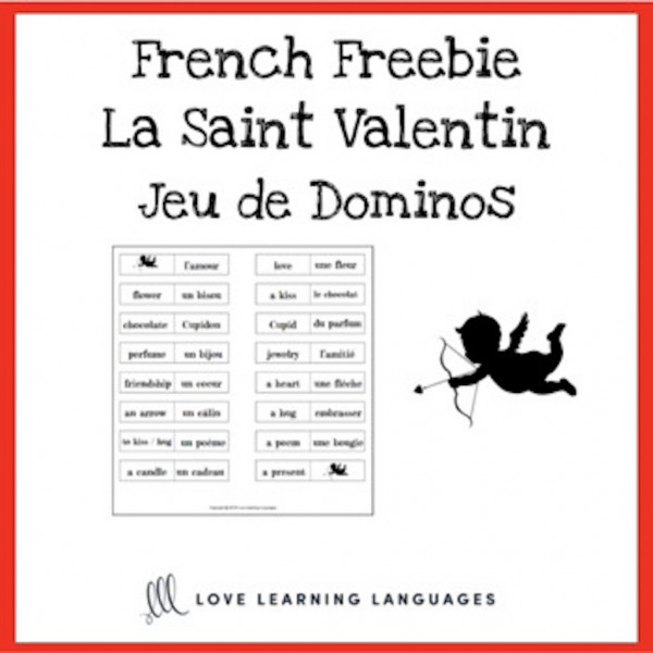 Jeu de Dominos - French Valentine's Day