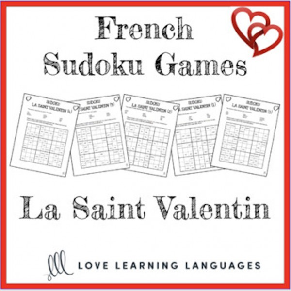 French Valentine's Day Sudoku Puzzles