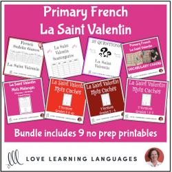 French Primary Valentine's Day Resource BUNDLE