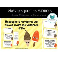Messages vacances d'été