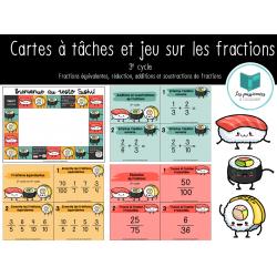 Cartes à tâches et jeu à propos des fractions