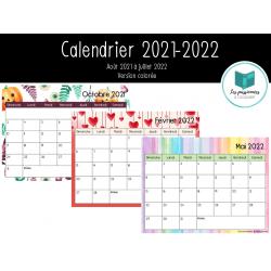 Calendrier 2021-2022 (version colorée)