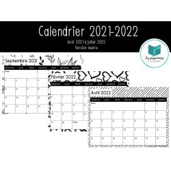 Calendrier 2021-2022 (version neutre)