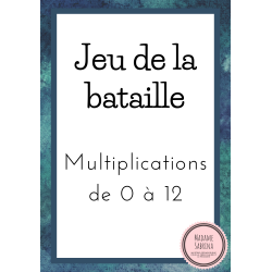 Jeu de la bataille - Multiplications de 0 à 12