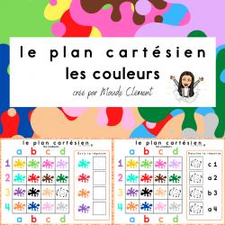 Plan cartésien les couleurs