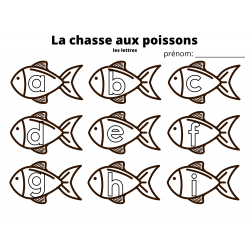La chasse aux poissons a à z minuscules