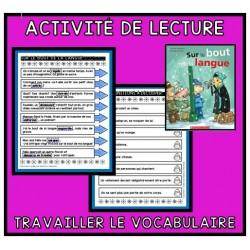 Activité pour travailler le vocabulaire