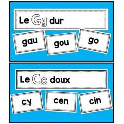 Classer des syllabes (c dur doux, g dur doux)