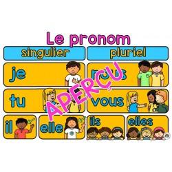 Affiche du pronom