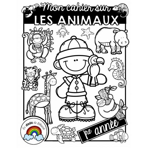 Cahier sur le thème des animaux (mois d'avril)