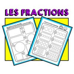 FIches d'activité : les fractions