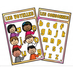 Affiches voyelles consonnes