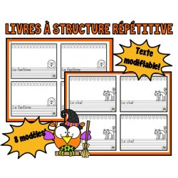 Livres à structure répétitive (8 modèles)