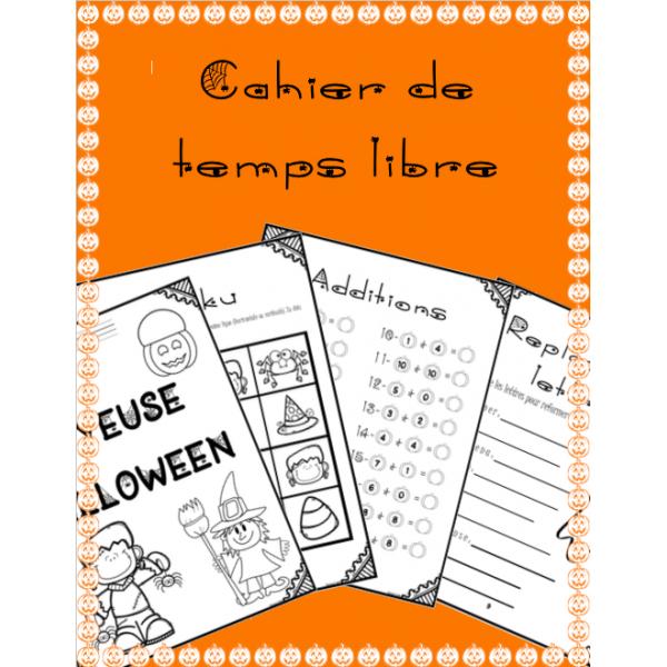 Cahier de temps libre (Halloween)