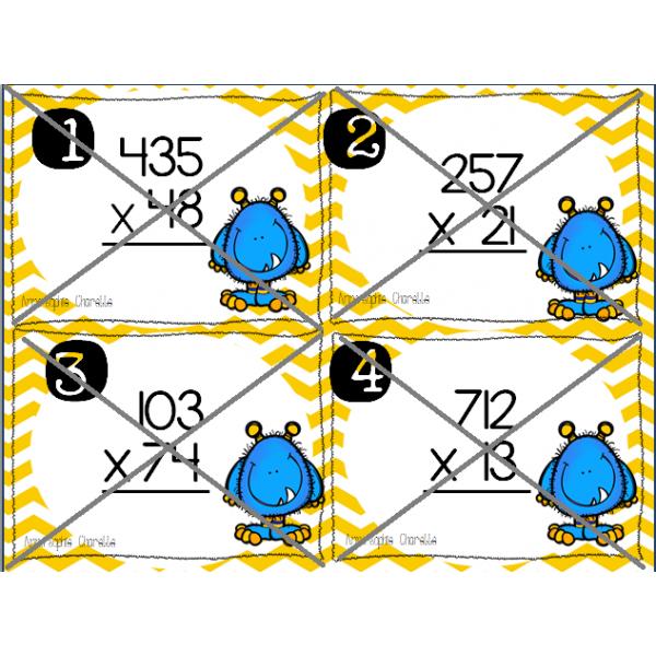 Cartes à tâches la multiplication