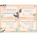 Cartes à tâches-Multiplication
