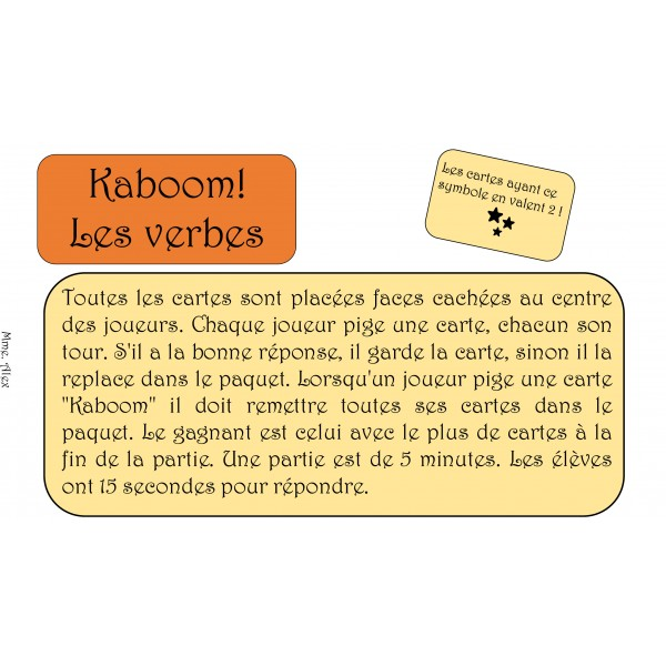 Kaboom des verbes
