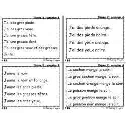 Phrases répétitives (mots-étiquettes Alphabétik)