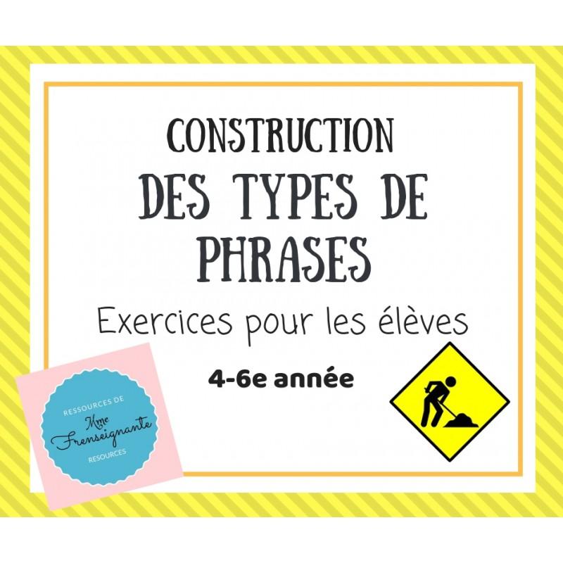 Exercices Des Types De Phrase
