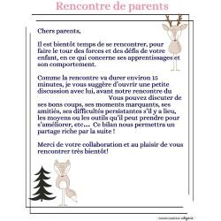 Lettre rencontre de parent