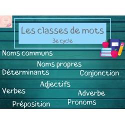 Leçon classe de mots 3e cycle