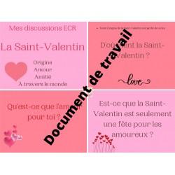 Cartes à tâche Saint-Valentin ECR