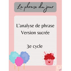 Analyse de phrase 3e cycle