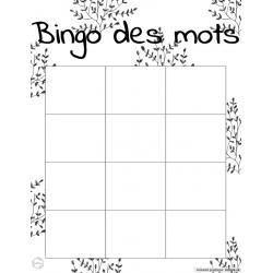 Bingo des mots