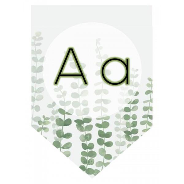 Alphabet thème plante