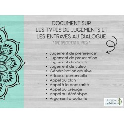 Types de jugements et entraves au dialogue
