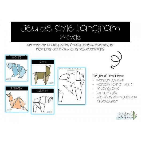 Jeu de style Tangram