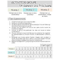 Ordonner des fractions