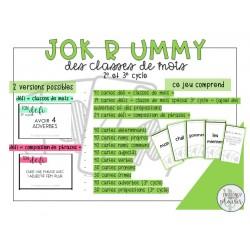 Jok R ummy des classes de mots