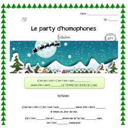 Party d'homophones de Noël