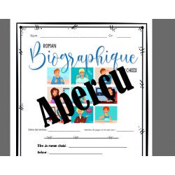 Biographie au choix  - carnet de lecture