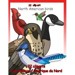 22 illustrations d'oiseaux d'Amérique du Nord