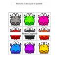 Les associations des couleurs (monstres)