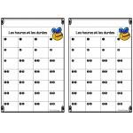 Cartes à tâches - les heures et les durées