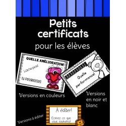 Petits certificats