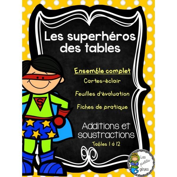 Superhéros des tables - Ensemble complet