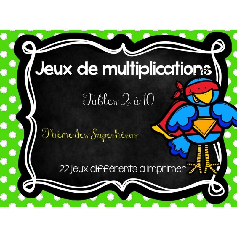 Jeux sur les multiplications - Jouer avec les tables de multiplication ...