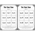 Tic-tac-toe des tables de multiplication