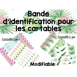 Bande d'identification des cartables